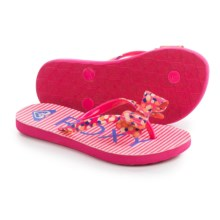 Roxy Girl Lulu II Flip-Flops (For Little and Big Girls) in Pink Carnation - Closeouts