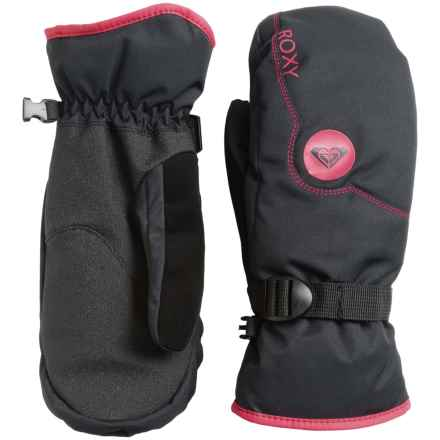 Roxy Jetty Solid Mittens - Insulated (For Women) in Anthracite - Closeouts