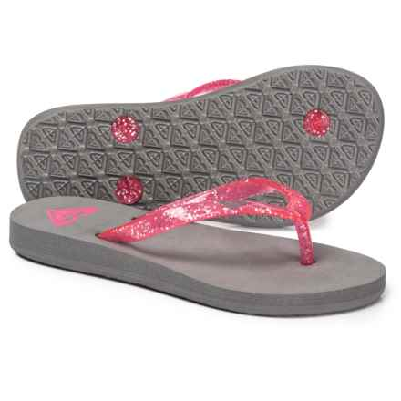 a07ee0981 Roxy Kahala Flip-Flops (For Girls) in Grey Pink - Closeouts