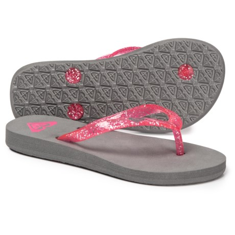 d4482ac0ca09 Roxy Kahala Flip-Flops (For Girls) in Grey Pink