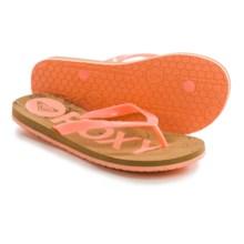 Roxy Kiwi Flip-Flops (For Women) in Coral - Closeouts