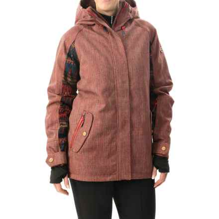Roxy Lodge Snowboard Jacket - Waterproof, Insulated (For Women) in Pompeian Red - Closeouts