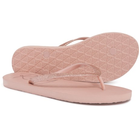 885572906 Roxy Lumina Lite V Flip-Flops (For Women) in Rose Gold