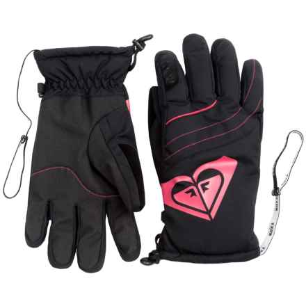 Roxy Popi Snowboard Gloves - Insulated (For Women) in Anthracite - Closeouts