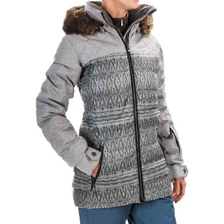 Roxy Quinn Snowboard Jacket - Waterproof, Insulated (For Women) in Dixie/Dark Grey - Closeouts