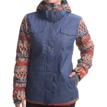 Roxy Rizzo Ski Jacket - Waterproof, Insulated (For Women) in Ethnic Weave/Molten Lava - Closeouts