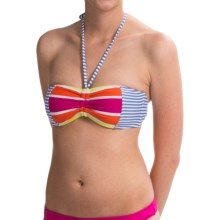 Roxy Sail Away Placement Bandeau Bikini Top (For Women) in Bleached Denim - Closeouts