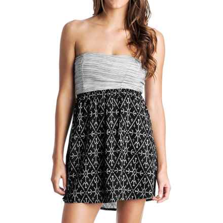 Roxy Savage 3 Strapless Dress (For Women) in Anthracite - Closeouts