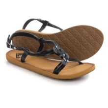 Roxy Solaris Strappy Sandals - Vegan Leather (For Women) in Black - Closeouts