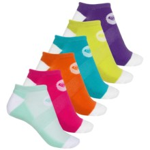 Roxy Solid No-Show Socks - 6-Pack, Below the Ankle (For Women) in Multi - Closeouts