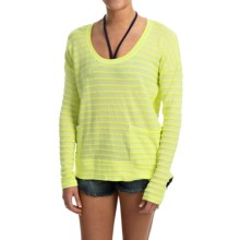 Roxy Surfside Knit Shirt - Long Sleeve (For Women) in Lime Yellow - Closeouts