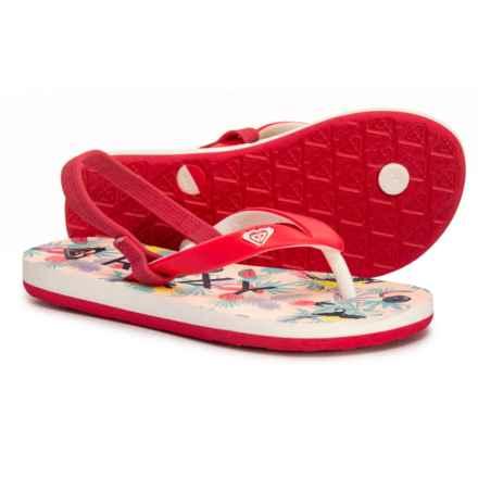 61a3e4967 Roxy Tahiti VI Flip-Flops (For Girls) in Red - Closeouts