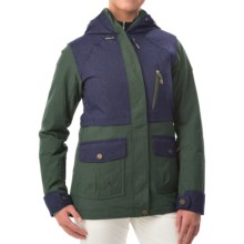 Roxy Tribe Snowboard Jacket - Waterproof, Insulated (For Women) in Jungle Green - Closeouts