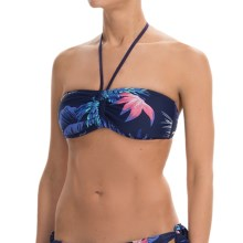 Roxy Tropical Getaway Bandeau Bikini Top (For Women) in Tropical Getaway Astral Aura - Closeouts