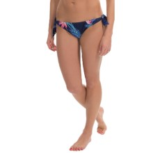 Roxy Tropical Getaway Knotted '70s Bikini Bottoms (For Women) in Tropical Getaway Astral Aura - Closeouts