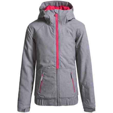Roxy Valley Snowboard Jacket - Waterproof, Insulated (For Big Girls) in Heritage Heather - Closeouts