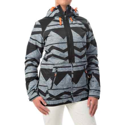 Roxy Valley Snowboard Jacket - Waterproof, Insulated (For Women) in Damarisanthracite - Closeouts
