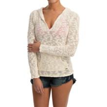 Roxy Warm Heart Sweater - Hooded (For Women) in Egret - Closeouts