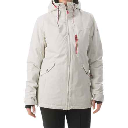 Roxy Wildlife Snowboard Jacket - Waterproof, Insulated (For Women) in Egret - Closeouts