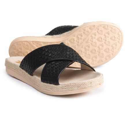Royal Canadian Glencairn X-Band Espadrilles - Leather (For Women) in Black - Closeouts