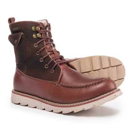 Royal Canadian Harbour Boots - Waterproof (For Men) in Brown/Red Check - Closeouts