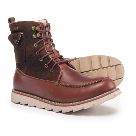 Royal Canadian Harbour Boots - Waterproof (For Men) in Brown/Red Check