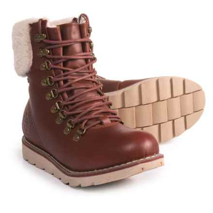 Royal Canadian Lethbridge Leather and Shearling Snow Boots - Waterproof, Insulated (For Women) in Cognac - Closeouts