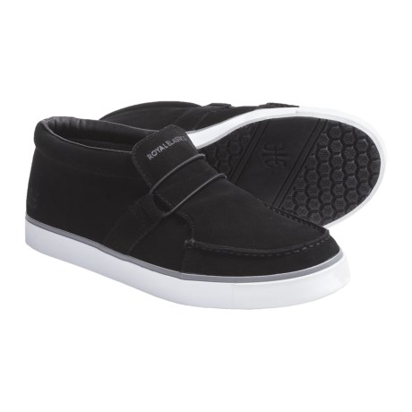 Royal Elastics Deckhand Shoes - Slip-Ons (For Men) in Black/White