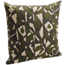 "Royal Heritage Camo Throw Pillow - Cotton Denim, 20x20"" in Green Camo - Closeouts"