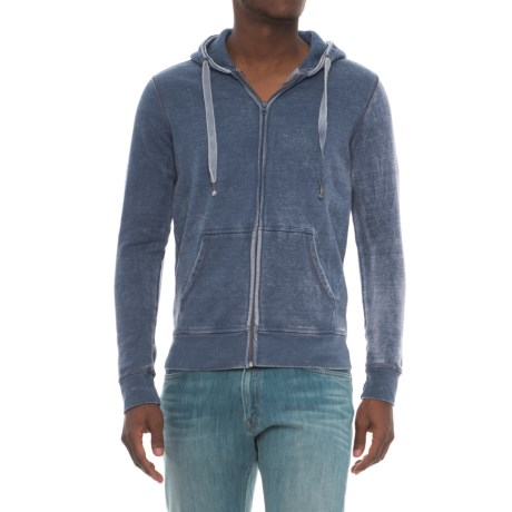 Royal Premium Washed Full-Zip Hoodie (For Men)