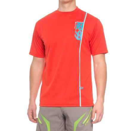 Royal Racing Altitude Mountain Bike Jersey - Short Sleeve (For Men) in Bright Red/Electric Blue/White - Closeouts
