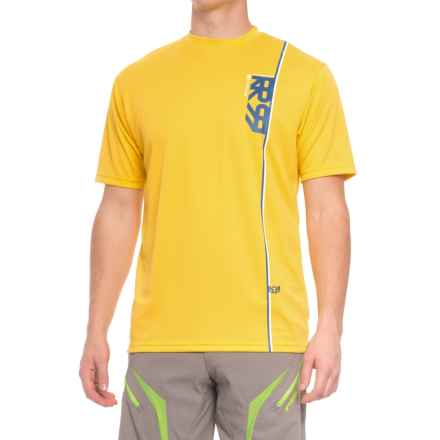 Royal Racing Altitude Mountain Bike Jersey - Short Sleeve (For Men) in Bright Yellow/Navy/White - Closeouts