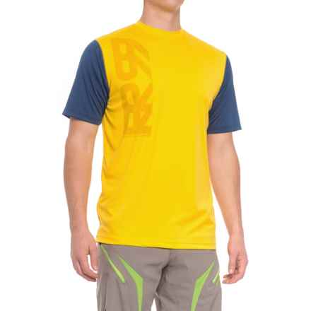 Royal Racing Core Cycling Jersey - Short Sleeve (For Men) in Bright Yellow/Navy - Closeouts