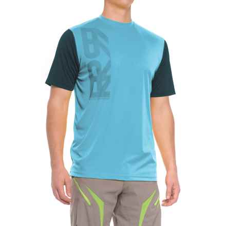Royal Racing Core Cycling Jersey - Short Sleeve (For Men) in Sky Blue/Black - Closeouts
