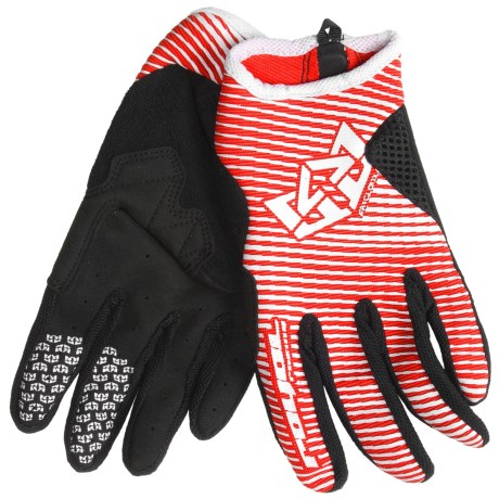 Royal Racing Crown Mountain Bike Gloves (For Men and Women) in Molten Lava Red/White