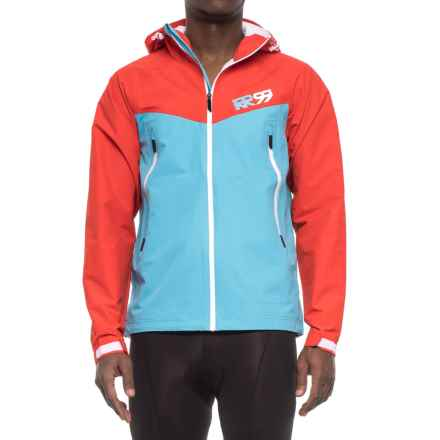 Royal Racing Matrix Hooded Cycling Jacket - Waterproof (For Men) in Cyan/Red - Closeouts