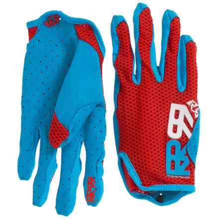 Royal Racing Quantum Cycling Gloves (For Men and Women) in Red/Sky Blue - Closeouts
