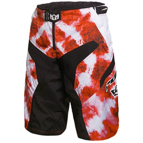 Royal Racing Race Mountain Bike Shorts (For Men) in Molten Lava Red