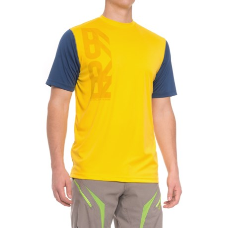 Royal Racing Racing Core Cycling Jersey - Short Sleeve (For Men) in Bright Yellow/Navy