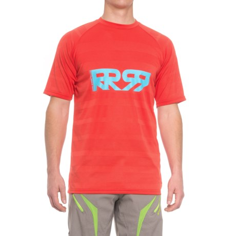 Royal Racing Racing Impact Mountain Bike Jersey - Short Sleeve (For Men) in Red/Sky Blue