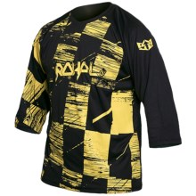 Royal Racing Ride Mountain Bike Jersey - 3/4 Sleeve (For Men) in Blasted Check Black/Blaze Yellow - Closeouts