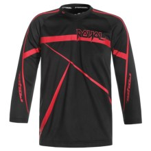 Royal Racing Slice Cycling Jersey - Long Sleeve (For Youth) in Black/Red - Closeouts