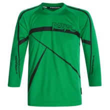 Royal Racing Slice Cycling Jersey - Long Sleeve (For Youth) in Kelly Green/Black - Closeouts