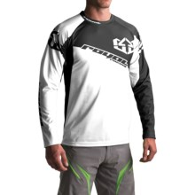 Royal Racing Stage Cycling Jersey - Long Sleeve (For Men) in Black/White - Closeouts