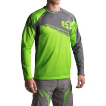 Royal Racing Stage Cycling Jersey - Long Sleeve (For Men) in Lime/Graphite - Closeouts