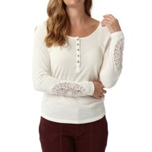 Royal Robbins Abbey Henley Shirt - Organic Cotton, Long Sleeve (For Women) in Creme - Closeouts