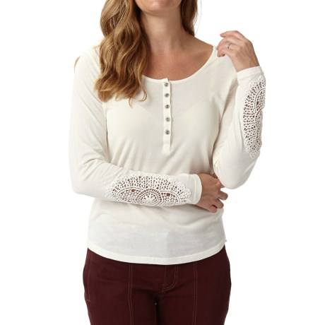 Royal Robbins Abbey Henley Shirt Organic Cotton, Long Sleeve (For Women)