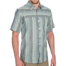 Royal Robbins Adrift Stripe Shirt - Hemp-Organic Cotton, Short Sleeve (For Men) in Night Sky - Closeouts