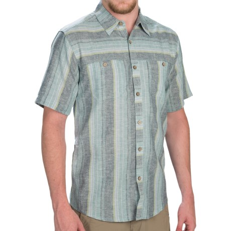 Royal Robbins Adrift Stripe Shirt Hemp Organic Cotton, Short Sleeve (For Men)