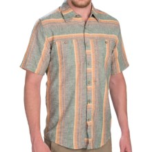 Royal Robbins Adrift Stripe Shirt - Hemp-Organic Cotton, Short Sleeve (For Men) in Taupe - Closeouts